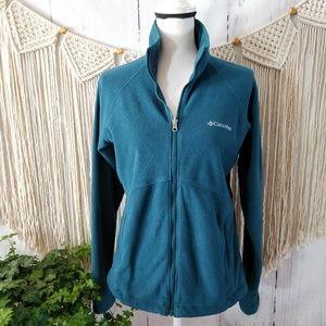 Columbia Blue Fleece Half Zip Up Popover Sweater M